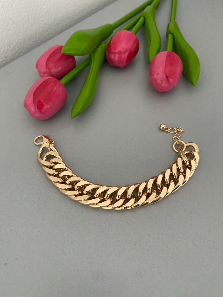 Gold Plated Chunky Curb Bracelet