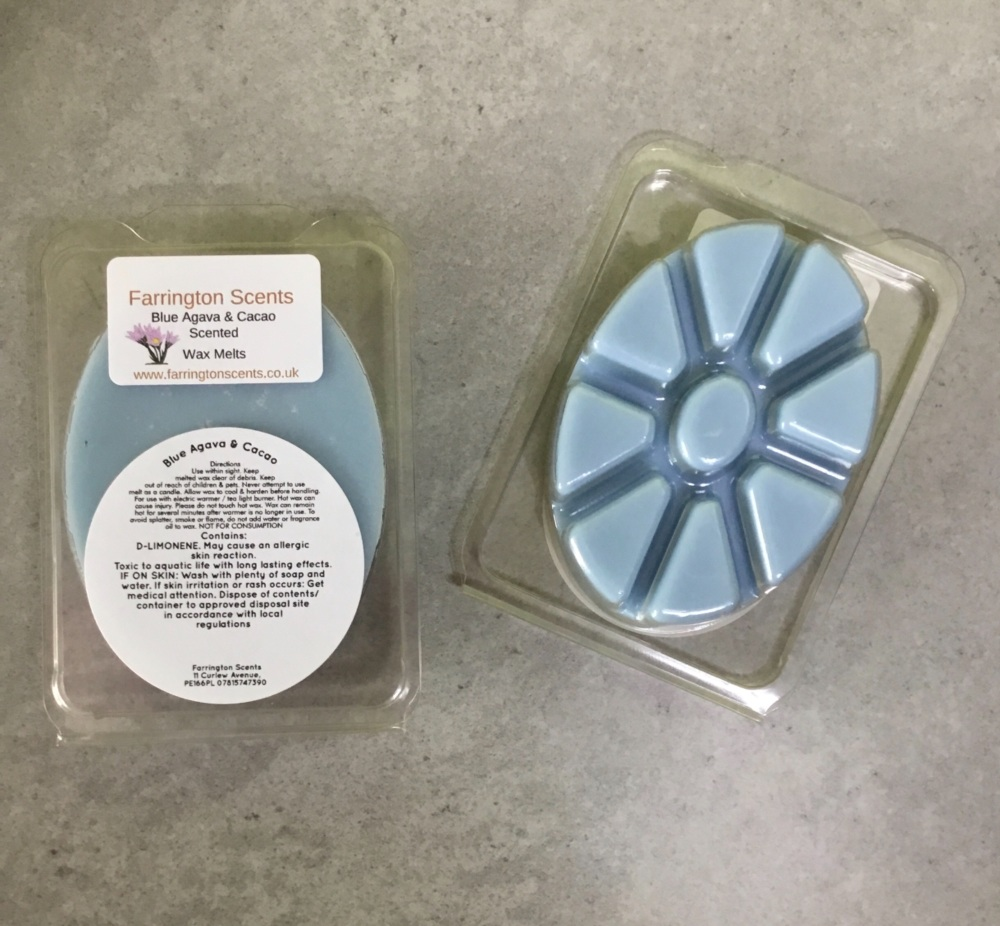 Blue Agava and Cacao Wax Melt