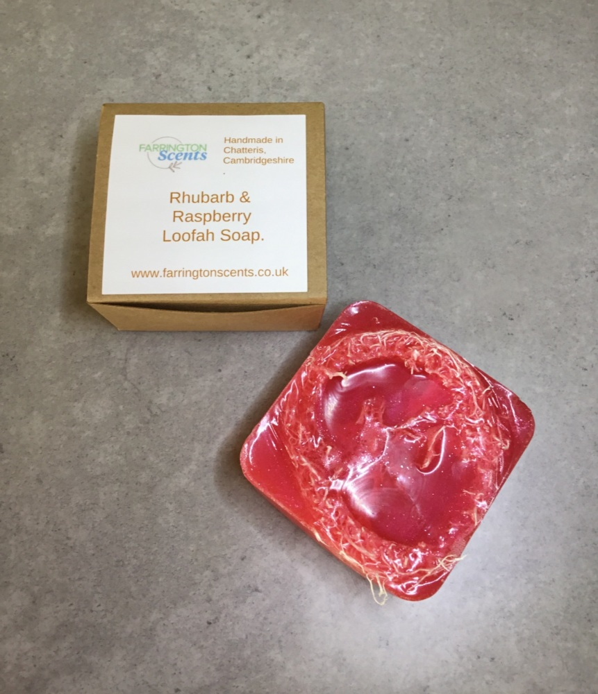 Rhubarb & Raspberry Loofah Soap
