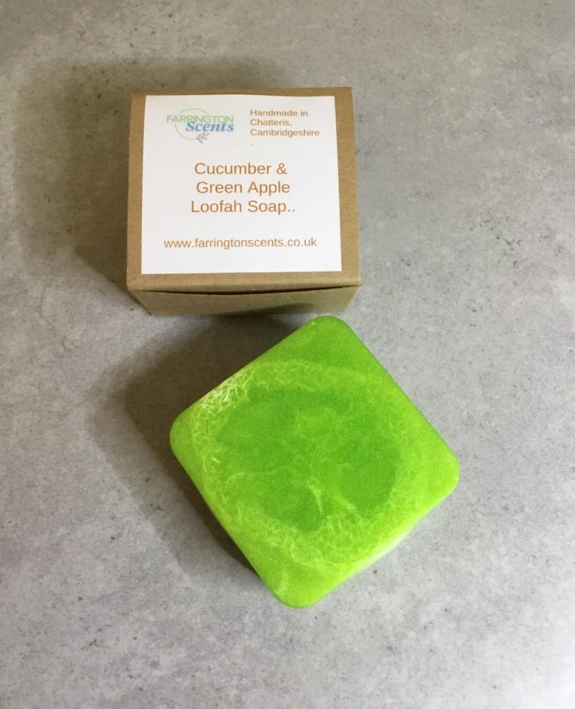 Cucumber & Green Apple Loofah Soap