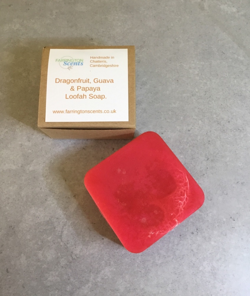 Dragonfruit, Guava and Papaya Loofah Soap