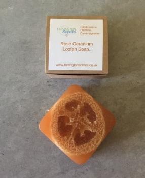 Rose Geranium Loofah Soap