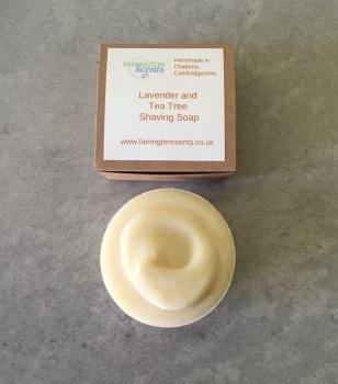 Lavender and Tea Tree Shaving Soap Bar