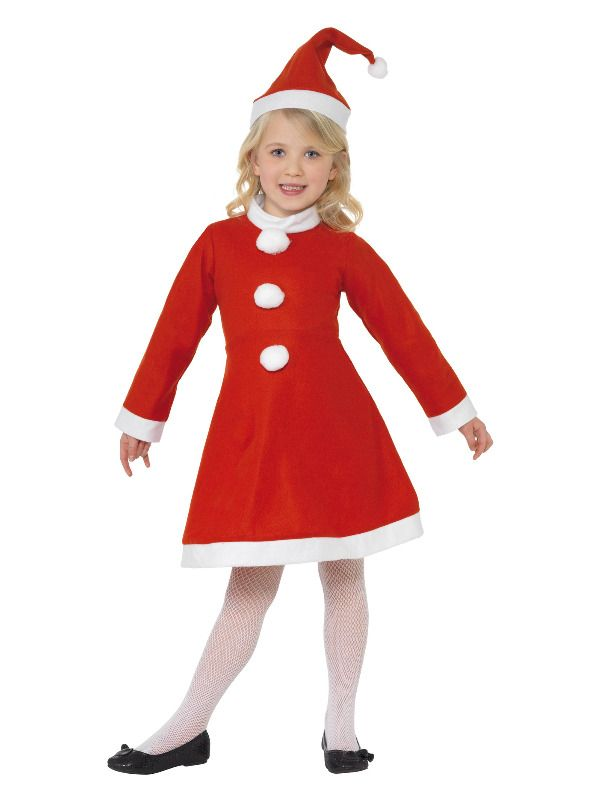 Girls Value Miss Santa Claus Costume Christmas Xmas Fancy Dress Outfit