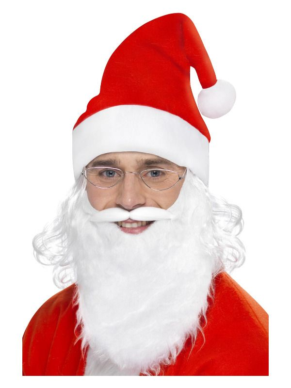 Adult Santa Claus Instant Dress Up Kit Costume Father Christmas Fancy Dress