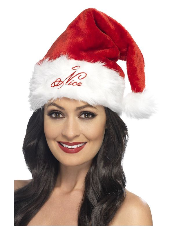 Adult Santa Hat Miss Christmas Ladies Fancy Dress Costume Accessory Xmas