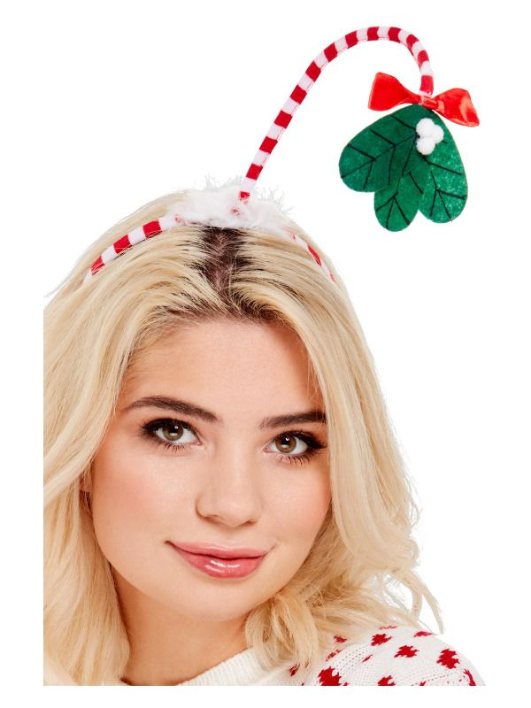 Mistletoe Kisses Headband Adult Unisex Smiffys Fancy Dress Costume Accessory