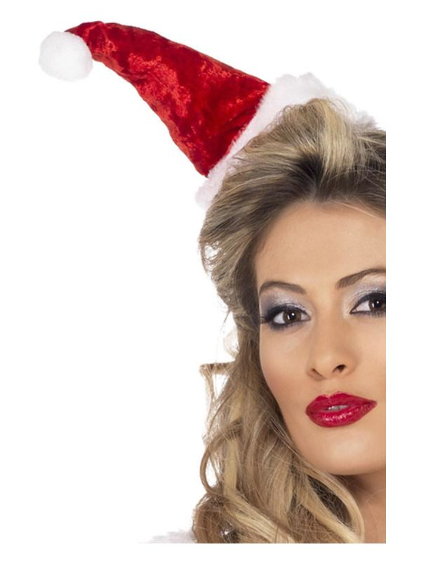 Mini Santa Hat On Headband Ladies Christmas Fancy Dress Costume Accessory