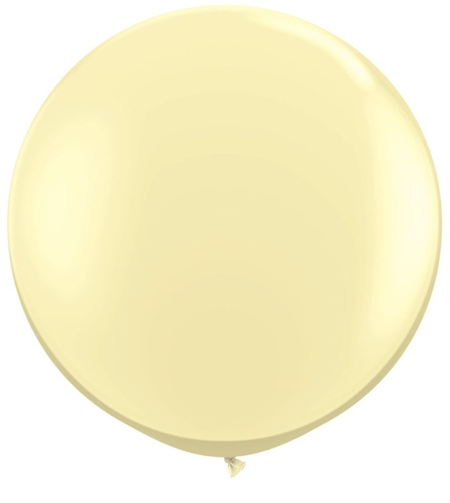 Ivory Silk  Fashion 3ft/ 91cm Qualatex Latex Balloon Helium Giant Party Bal