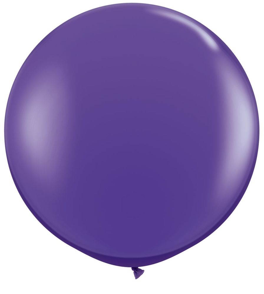 Purple Violet Fashion 3ft/ 91cm Qualatex Latex Balloon Helium Giant Party Balloons