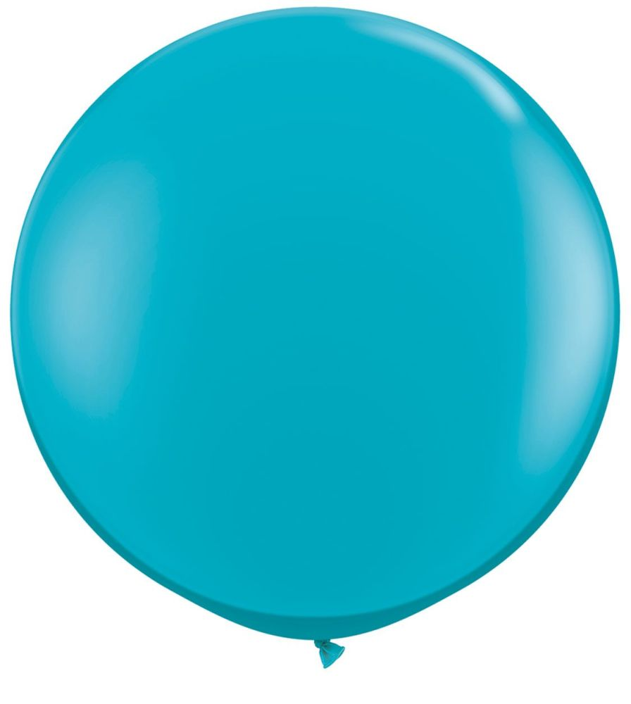 Tropical Teal Fashion 3ft/ 91cm Qualatex Latex Balloon Helium Giant Party B