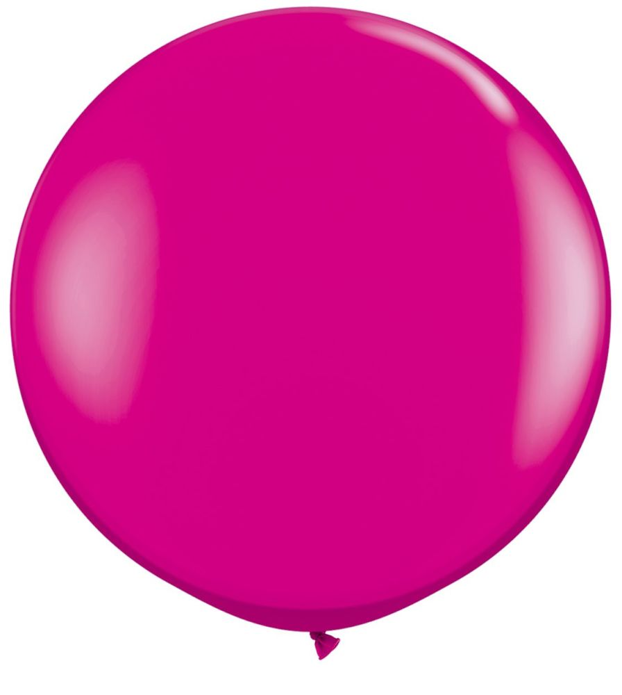 Wild Berry Fashion 3ft/ 91cm Qualatex Latex Balloon Helium Giant Party Ball
