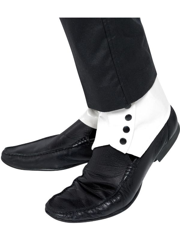 1920s Spats, White