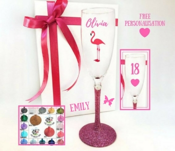 18 Champagne Glass Flamingo