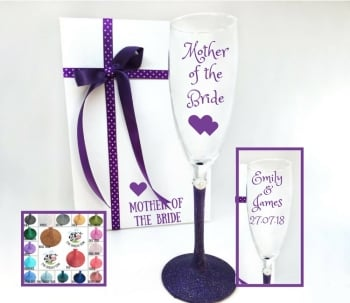 Mother of the Bride Champagne Hearts