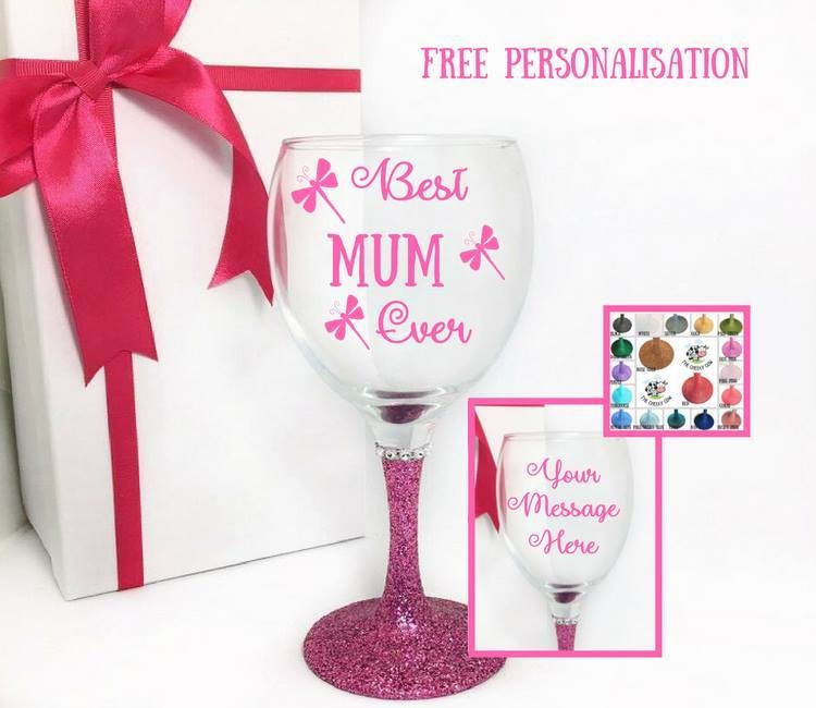 mum wine glass