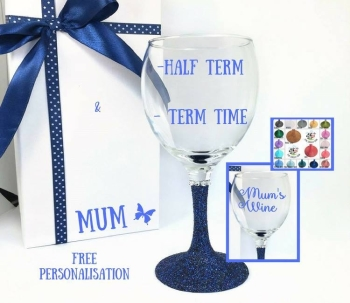 Mum Wine Glass Half Term