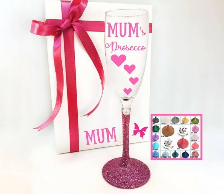mum prosecco glass