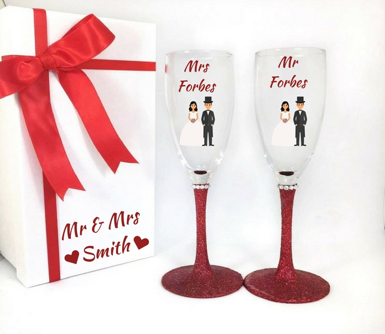 wedding anniversary glasses