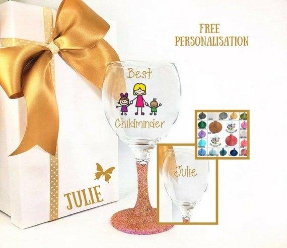 Childminder Wine Glass