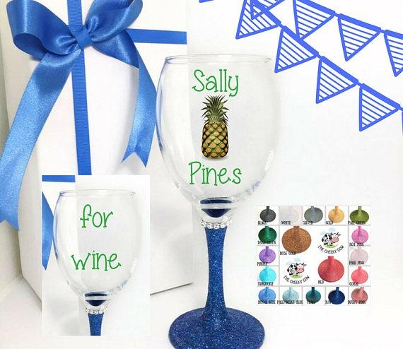 Pineapple Wine Glass