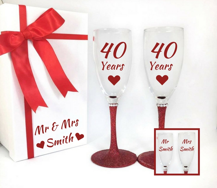 ruby wedding anniversary gifts