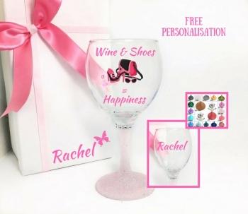 Shoe Lover Wine Glass