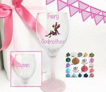 Fairy Godmother Wine Glass