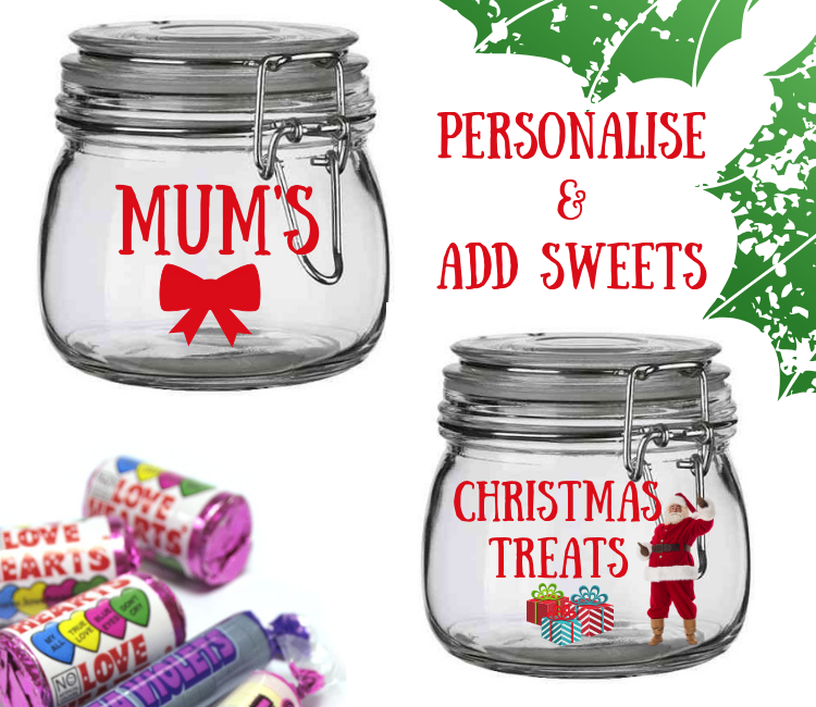 christmas sweet jars