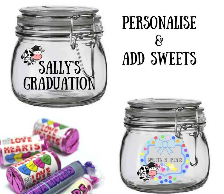 graduation sweet jars