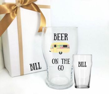 Caravan Pint Glass