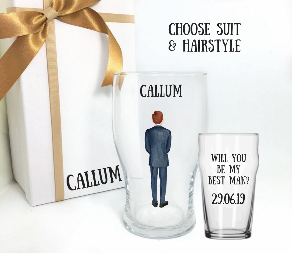 Will you be my best man pint glass