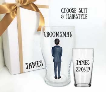 Thank You Groomsman Custom Suit