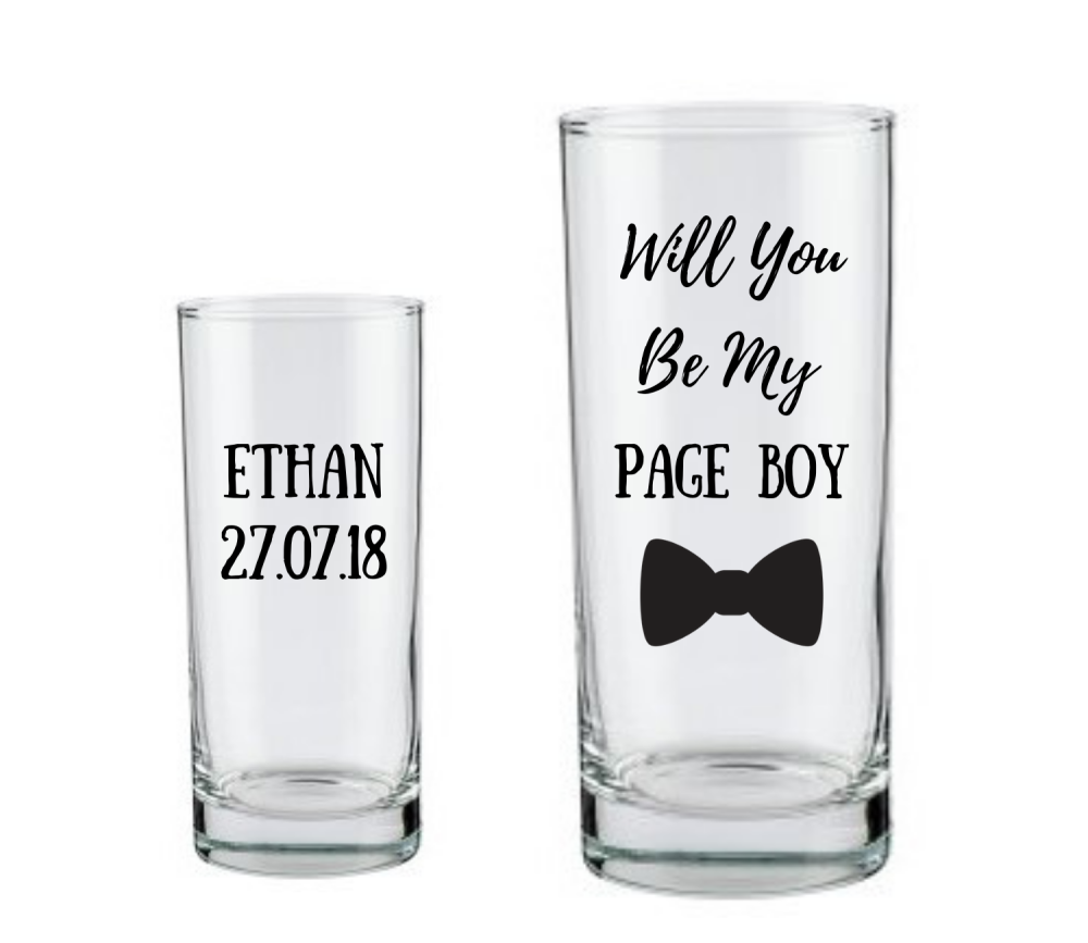 personalised will you be my page boy gift
