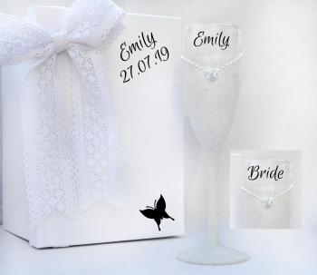 Bride Glitter Dress Champagne