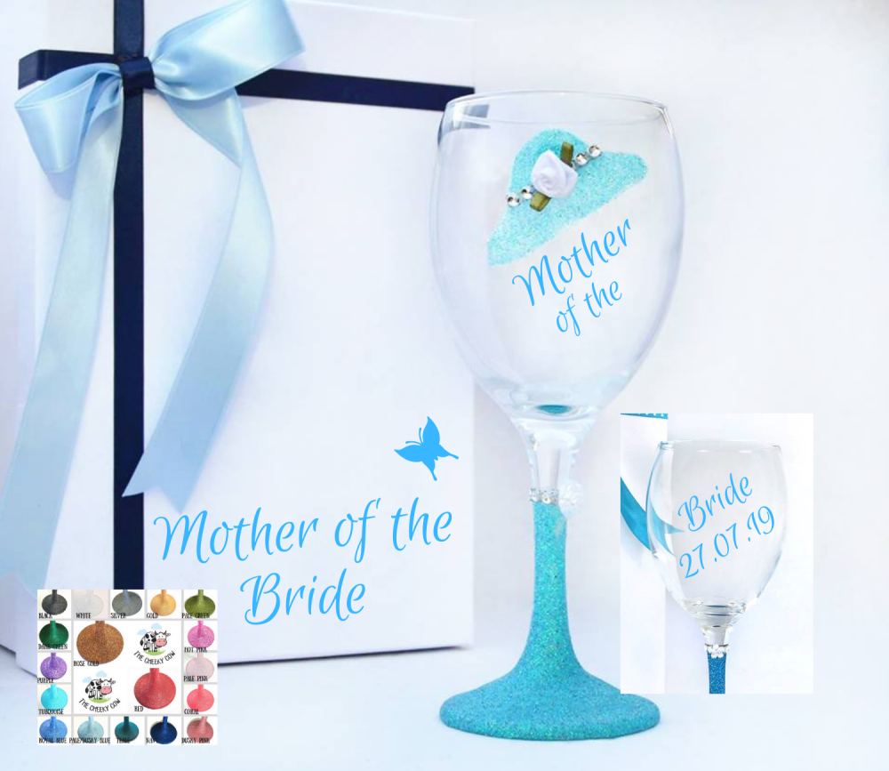 Mother of The Bride Glitter Hat