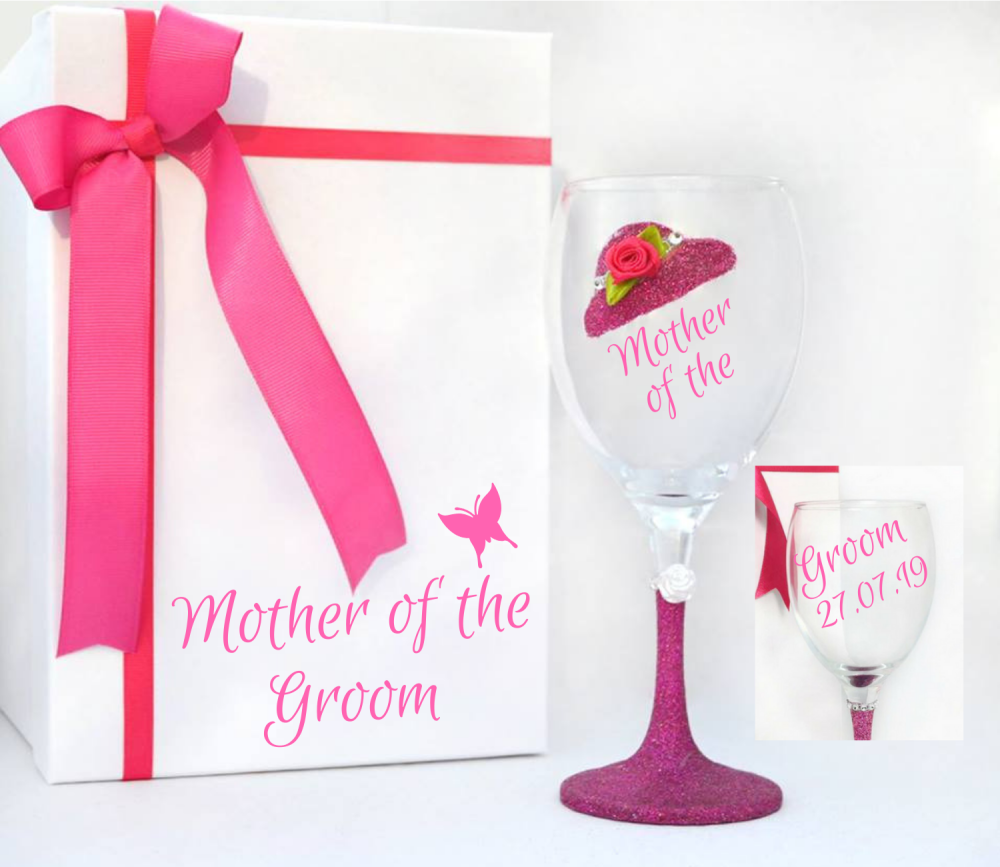 mother of the groom wine glass
