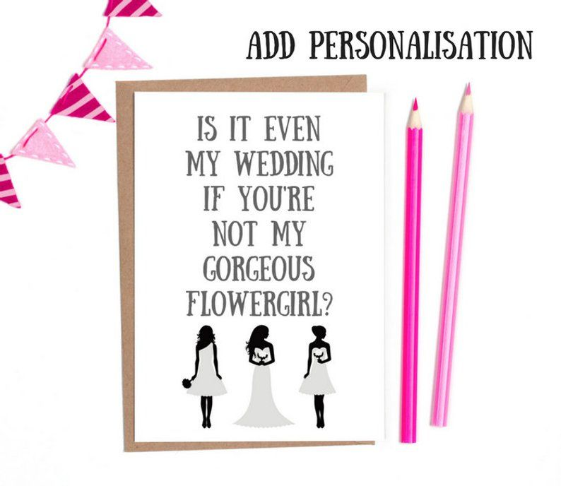 will you be my flowergirl card
