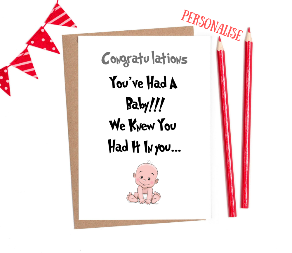 funny new baby cards