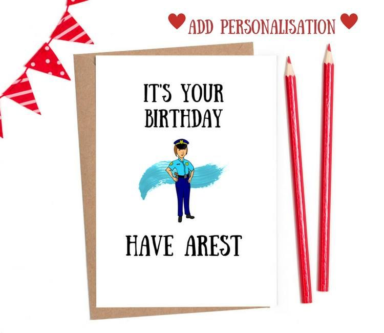 funny police birthday cards