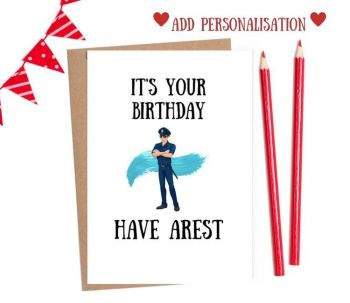 Job - Policeman Happy Birthday