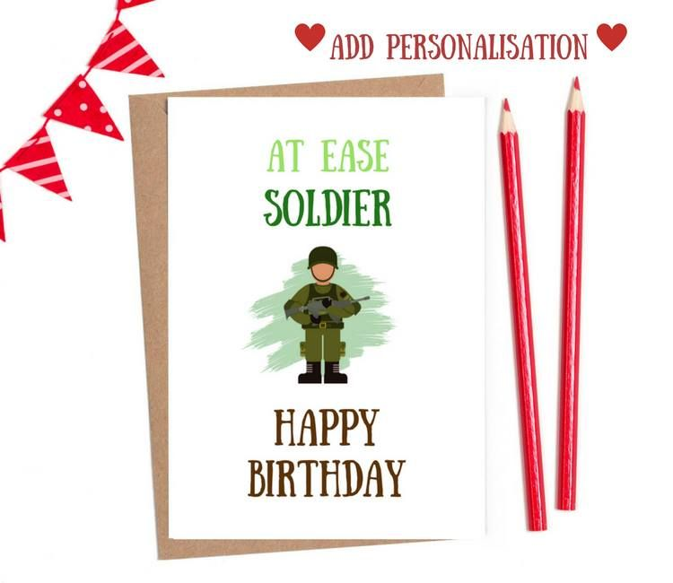 military birthday cards