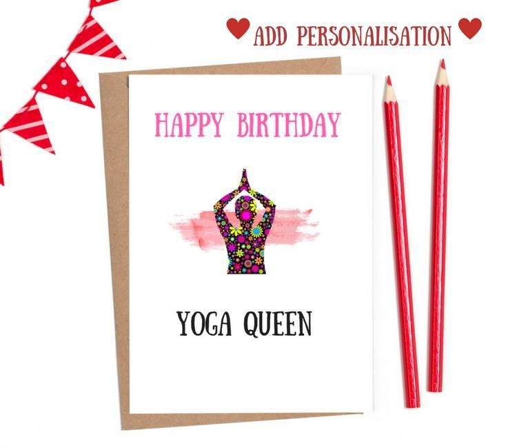 yoga birthday cards