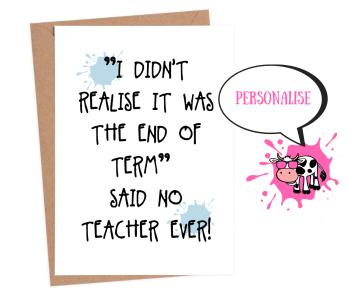 Thanks - Teacher End of Term