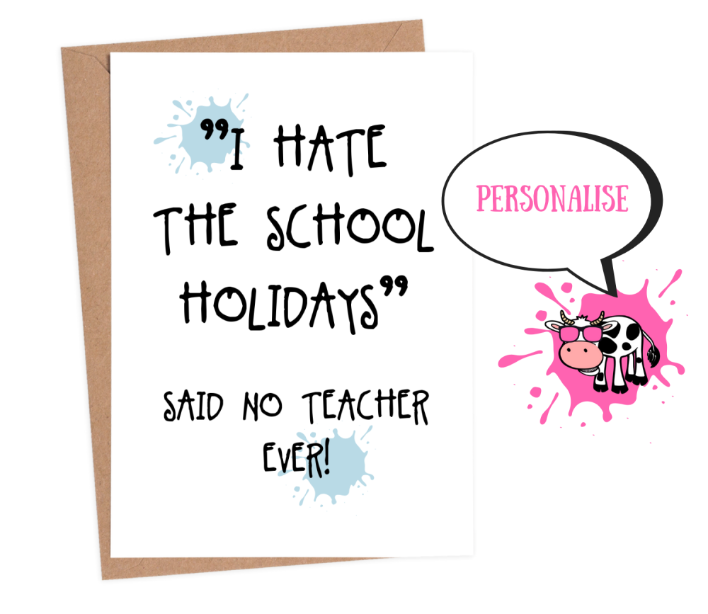 funny thank you cards for teachers