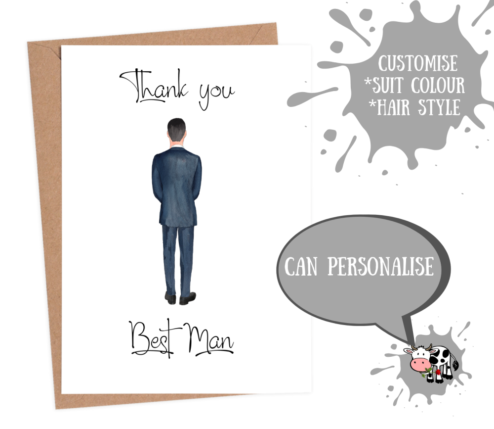 Best Man - Thank You Custom Suit