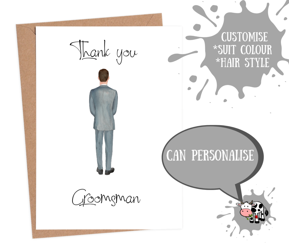 thank you groomsman card