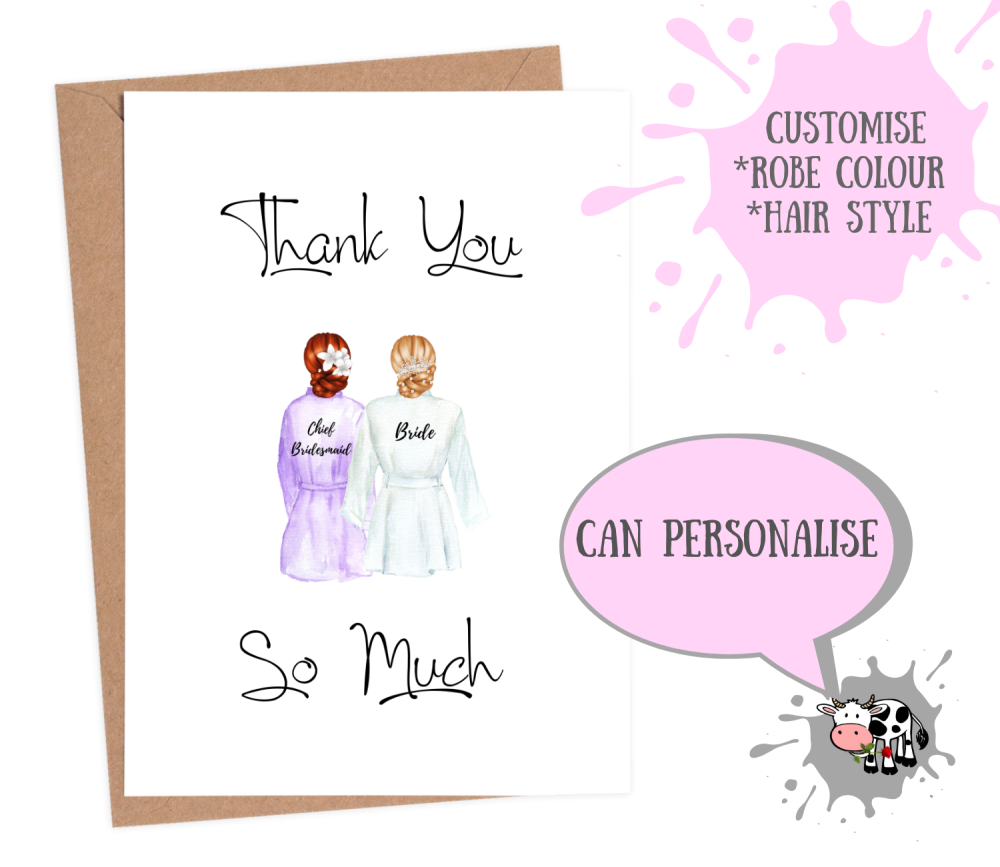 chief bridesmaid card