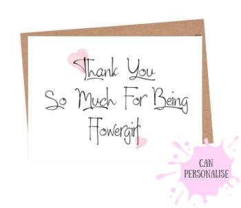 Thank You Flower Girl - Pink Heart