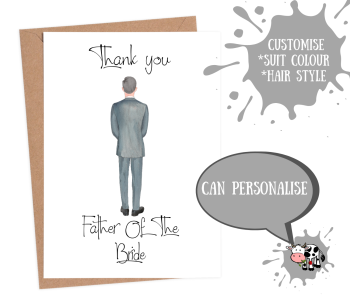 Thank You Father of the Bride - Custom Suit